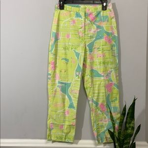 Lilly Pulitzer Via Lilly Palm Beach Map Sz2 Pants